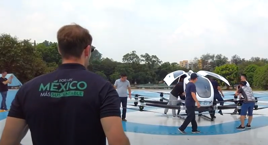 dron de pasajeros tulum